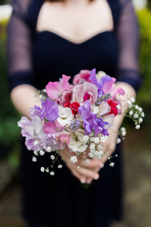 Cassie & Nick, Witley Court Wedding, Worcestershire Fine Art Wedding photographer - Jay Emme Photography (Sweet pea and gypsophila bridesmaid bouquet)