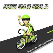 DP BBM Animasi Terbaru Versi Photoshop : Animasi-Dp BBM Naik Sepeda/Goes