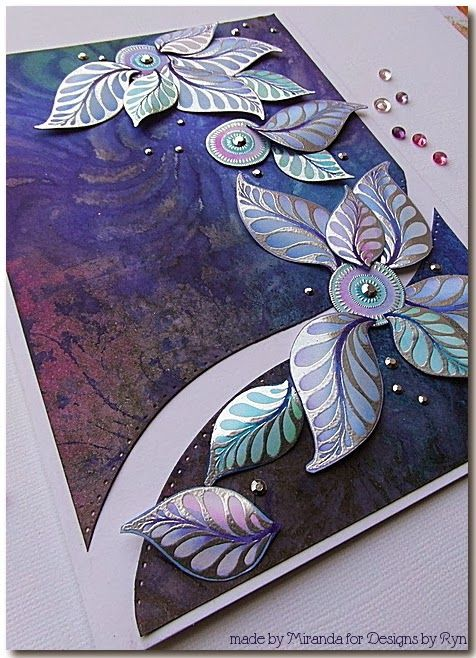'Mir'acle Art Inspirations: Wavy lines....Ornate leaves from designs by Ryn