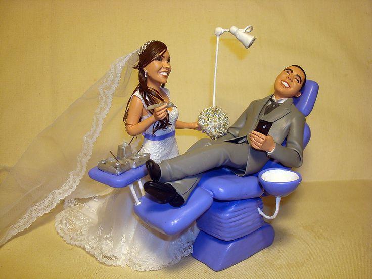 noivinha dentista com noivo na cadeira   Flávia Pina Noivinhos   Elo7