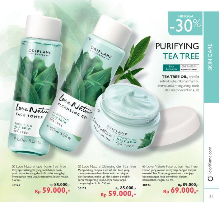 Promo Harga Diskon Rangkaian Love Nature Tea Tree Katalog Oriflame September 2016