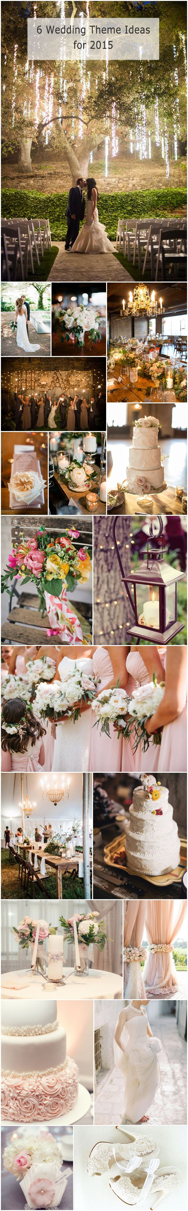 Top 6 Themes for 2015 Trending Wedding Ideas