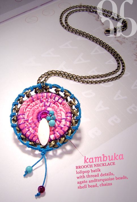 brooch and necklace