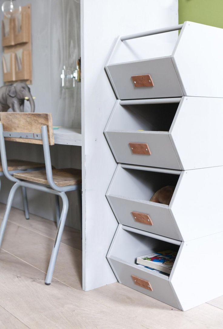 Possible bedside table inspiration for the girls' room