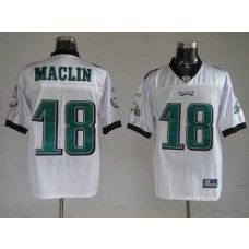 Eagles Jeremy Maclin #18 Stitched White NFL Jersey