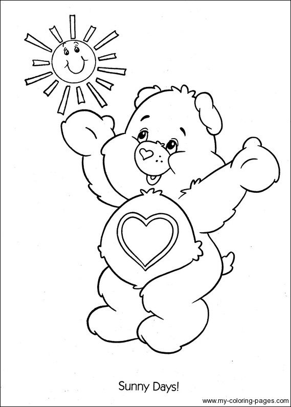 best care bear coloring pages - photo#37