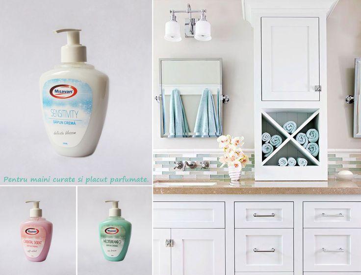 Pentru maini curate si plazcut parfumate, va recomandam sapunul crema Misavan, in varianta de 300ml: http://www.produse-de-curatenie.ro/produse-chimice-profesionale-de-curatenie/sapun-lichid/misavan-sapun-mediterraneo-300ml #curatenie #misavan. Pentru produse din aceeasi gama accesati: http://www.produse-de-curatenie.ro/produse-chimice-profesionale-de-curatenie/sapun-lichid
