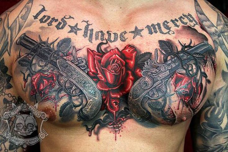 Chest Piece Tattoo Prices: Upper-Chest Tattoo