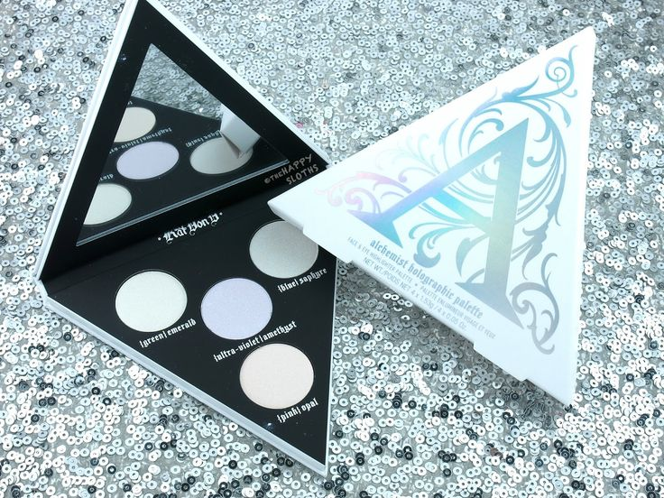 Kat Von D Alchemist Holographic Palette. $32/palette. This is everything I hoped it would be! The duochromatic effects are amazing and they completely transform any makeup look. I adore the lighter shades (Pink Opal, Green Emerald, Blue Sapphire) for highlights, but all can be used for shadows or shadow toppers!