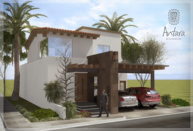 Fachadas de Casas Modernas: Fachada Contemporánea Mexicana