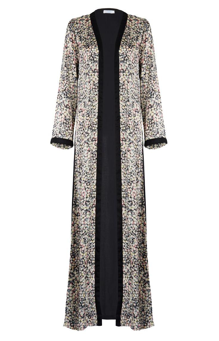 Aab UK Black Floral Kimono : Standard view