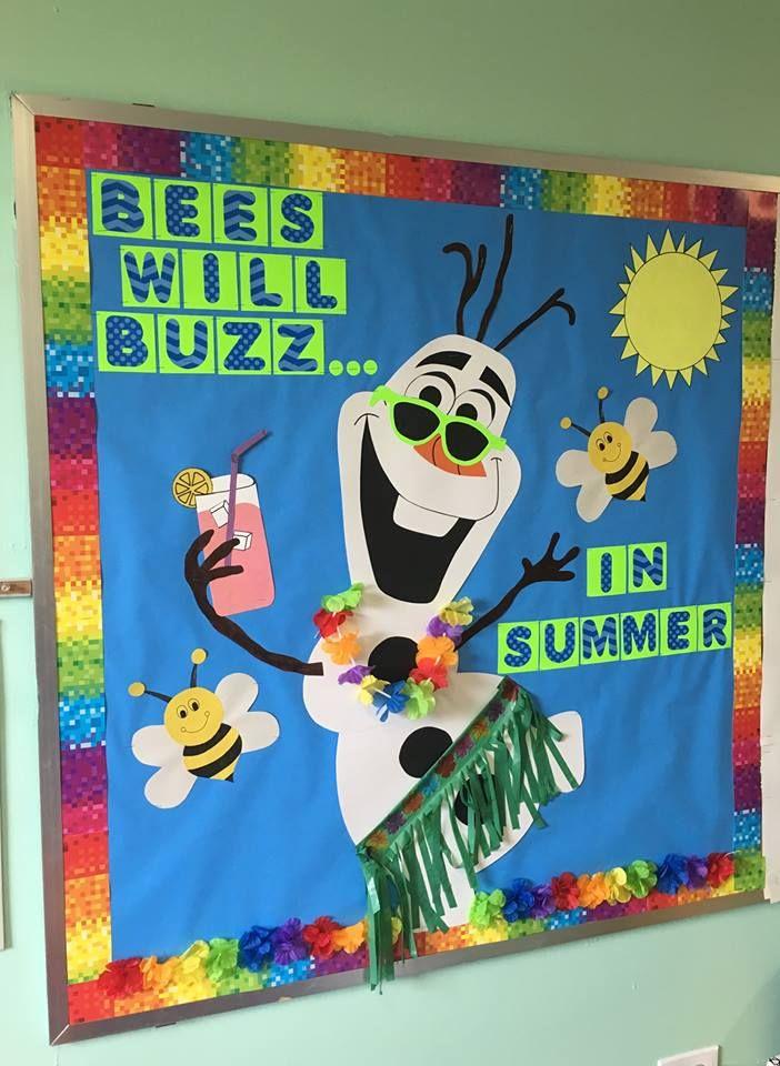 Summer Olaf bulletin board