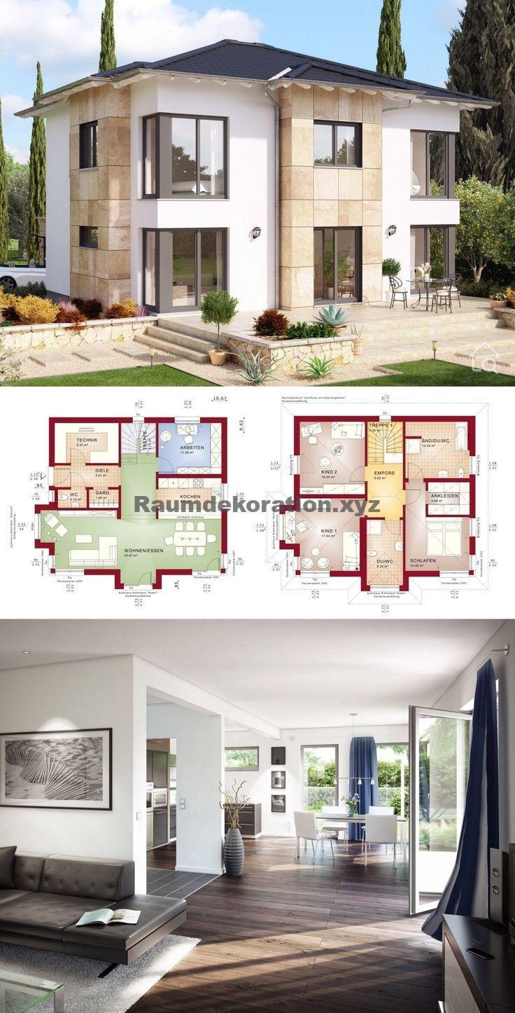 Baustil Ideen Kleine villa modernen zeitgenössischen