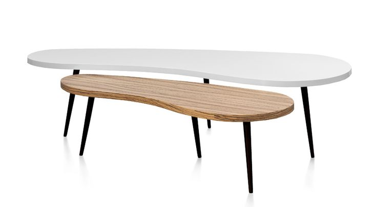 tables basses nuages - Table Ovale Scandinave2543
