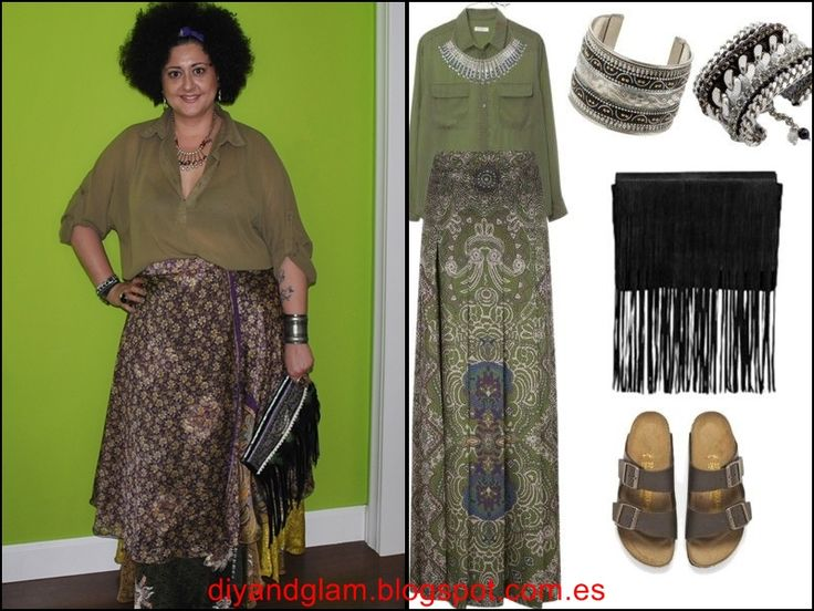 Diy & glam: Look maxi falda india