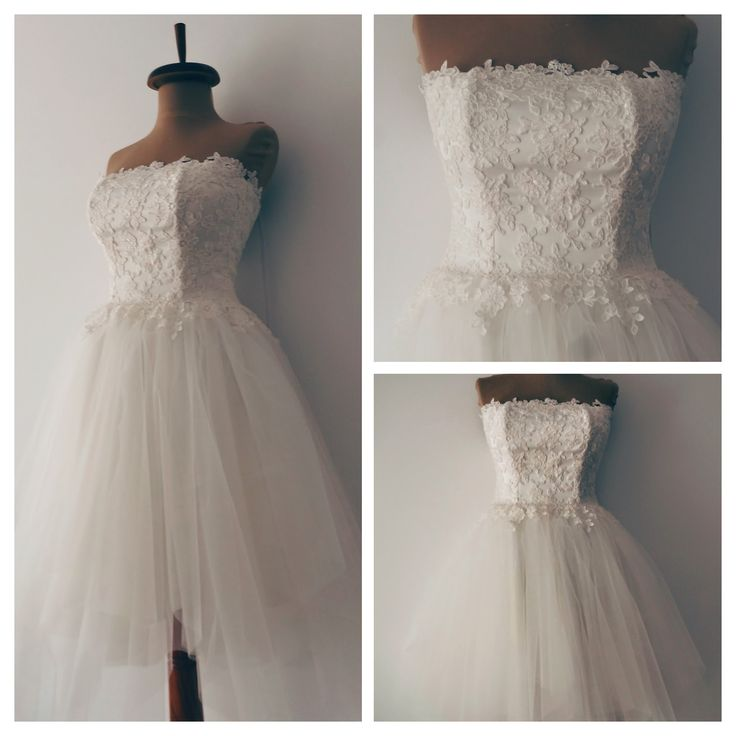 Gorgeous ballerina wedding dress, comfortable and fun. Custom made by Noomi