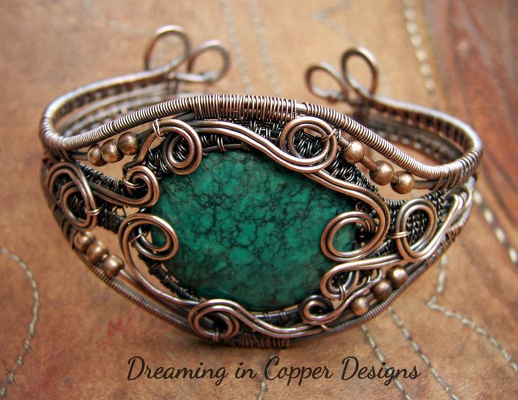 Turquoise and copper, so gorgeous together. By Dreaming in Copper Designs, Sandra Garrigus