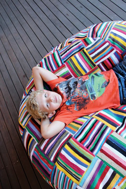 Inspire Me To Do So Patchwork Beanbag Handwoven South African Bean Bag By Ashanti Design