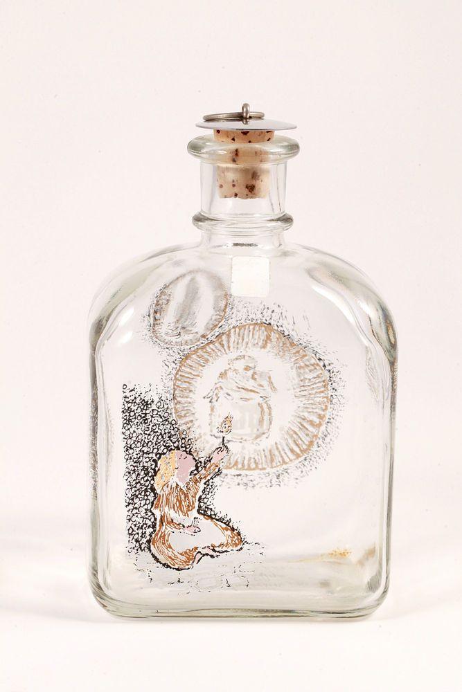 VTG Holmgaard Denmark Glass Juleflask Christmas Decanter Andersen Flasken 1987 #Holmgaard