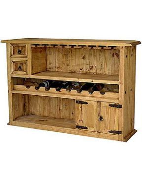 Mexican Rustic Pine Basement Bar