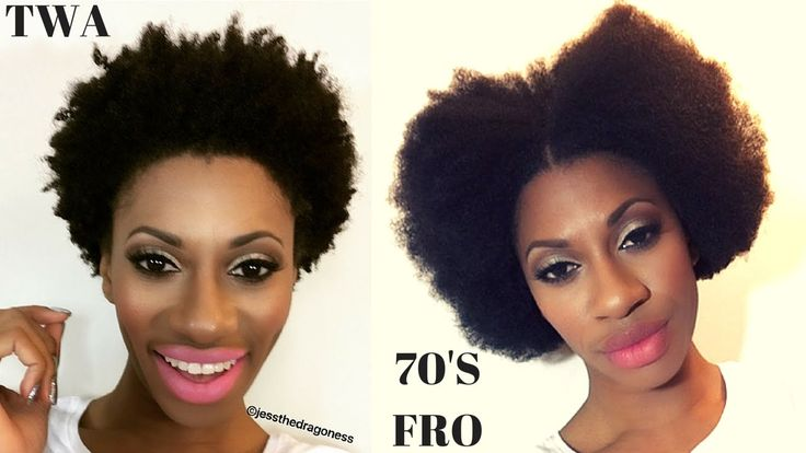 TWA Style: 1970's Blow Out Afro