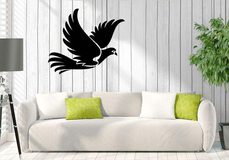 Vinyl Decal Wall Sticker Dove Pigeon Bird Home interior Decor (n758)
