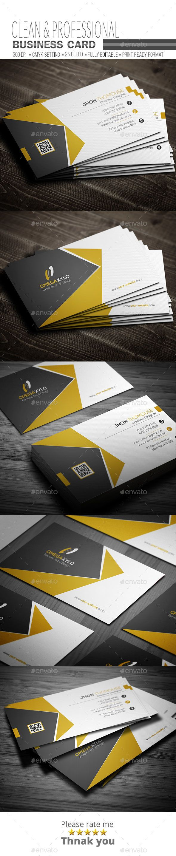 Corporate Business Card,black, brand, business, business card, card, clean, cmyk, color, company, corporate, creative, design, designer, golden, horizontal, modern, personal, print, print ready, professional, psd, simple template elegant, sleek, style, stylish, white, yellow