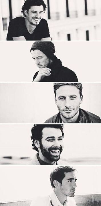 Reasons why Middle Earth needs to be real: Orlando Bloom, Luke Evans, Dean O'Gorman, Aidan Turner, and Lee Pace
