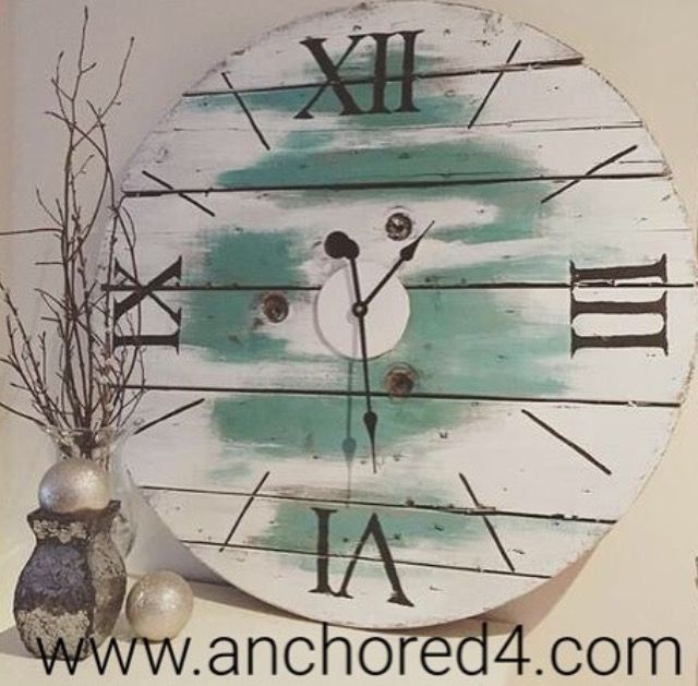 """Peekaboo Blue"" is one of many gorgeous clocks we have available on our online boutique. www.anchored4.com    We ship world wide. Sign up for our Free Anchors Reward Program to earn anchor points to get money off of purchases or cash in your anchor points to get items in our store for FREE!"