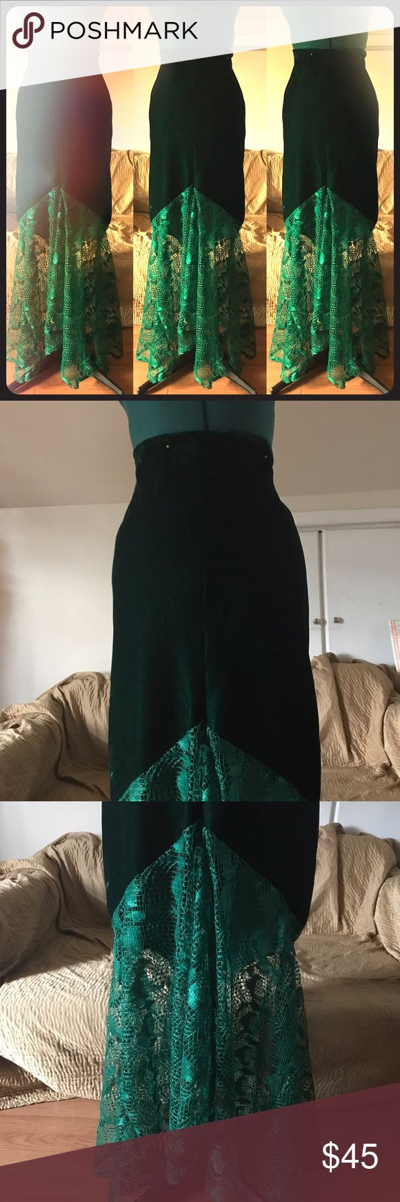 Velour Mermaid Skirt-Plus Size, Costume, Prom Velour Mermaid Skirt. Non stretch material with invisible zipper Handmade Skirts A-Line or Full