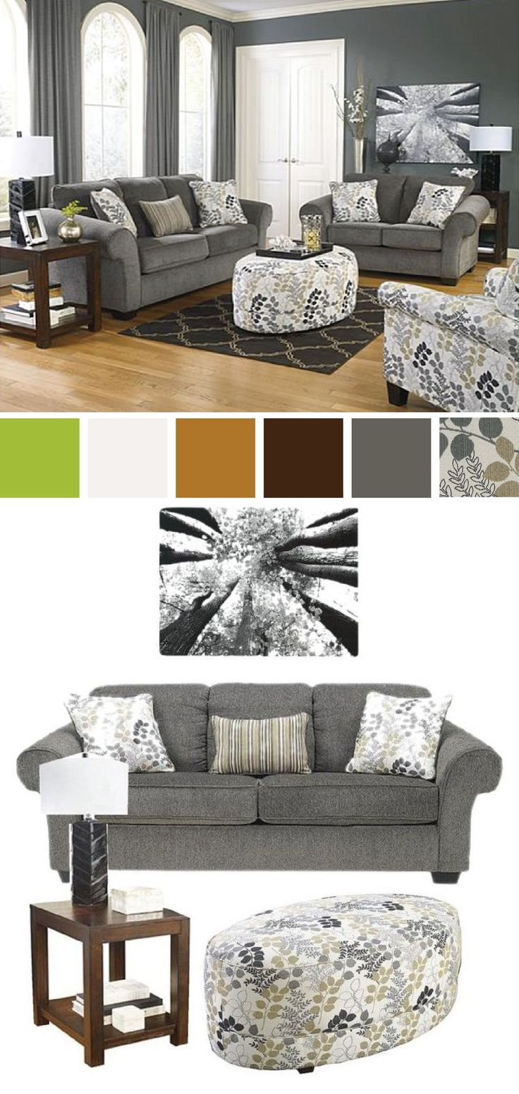 Accentuate your home with soothing tones and sophisticated design with this  plush gray sofa  Ashley. 264 best On Trend D cor images on Pinterest