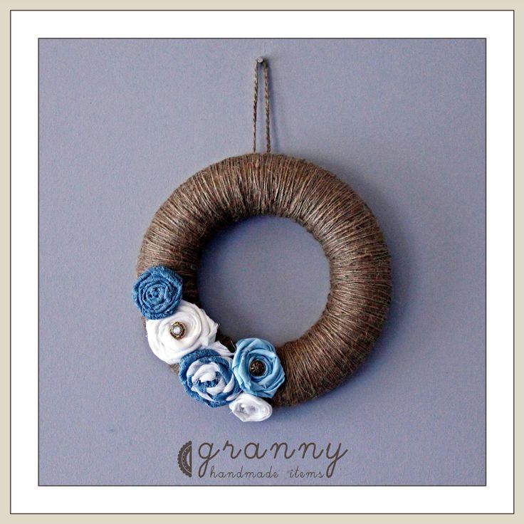 handmade summer wreath