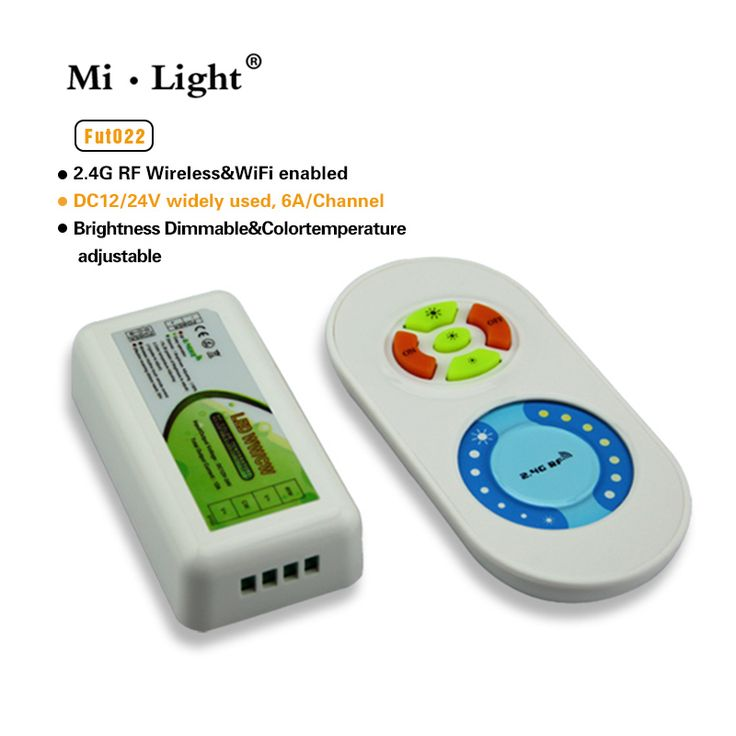 Lighting accessories 258 pinterest milight 24g dual white led strip controler color temperature adjustable with touch rf wireless dimmer mozeypictures Choice Image