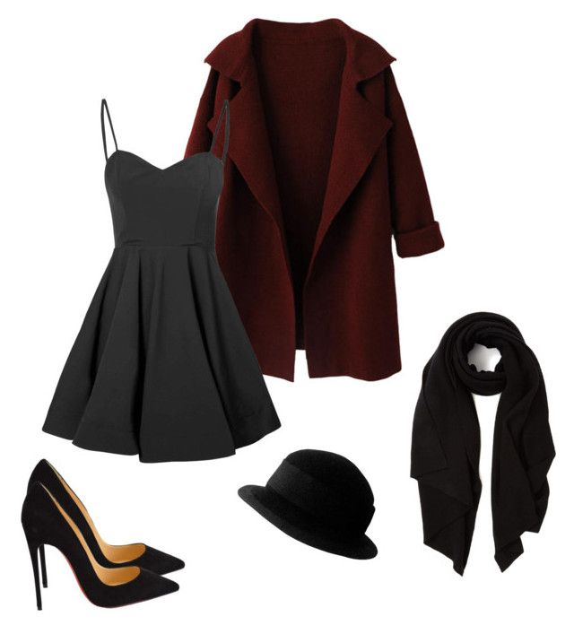 """Red and Black ✨"" by belovakrist on Polyvore featuring мода, WithChic, Glamorous, Christian Louboutin, Yves Saint Laurent, Cash Ca, women's clothing, women's fashion, women и female"