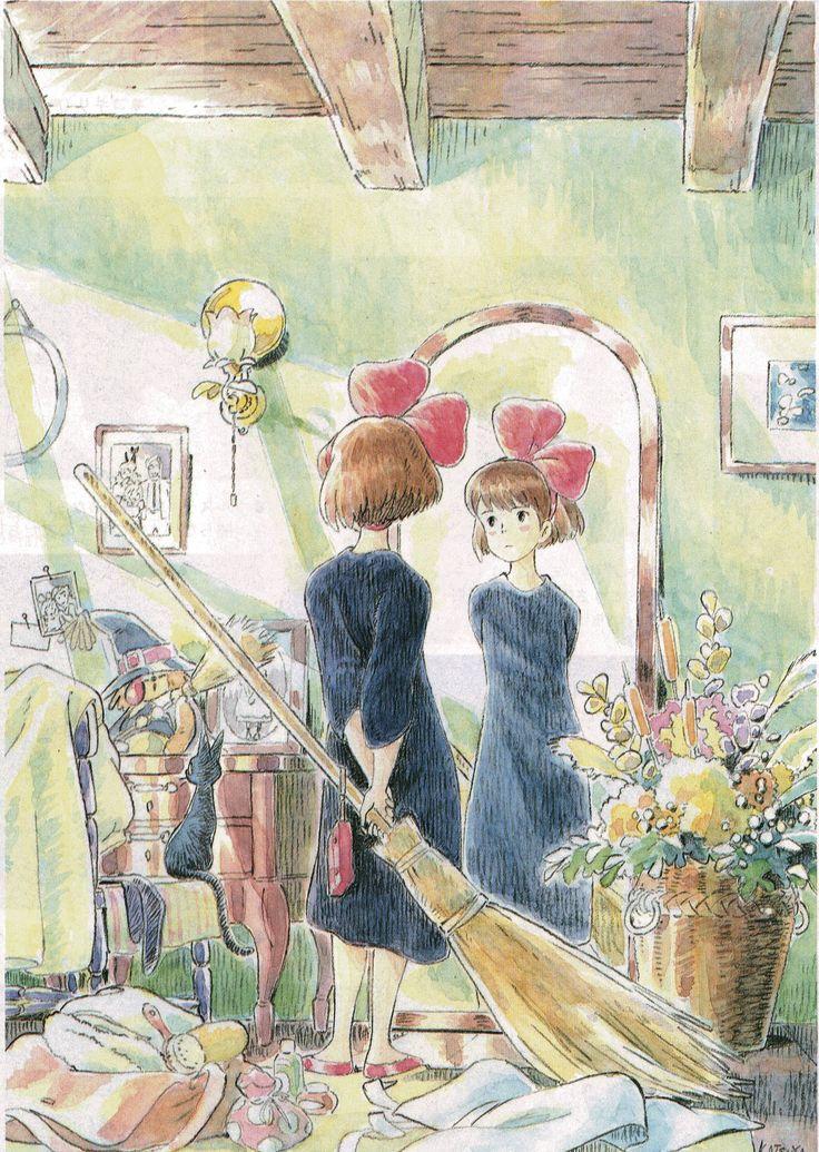 Kiki, la Petite Sorcière (Kiki's Delivery Service) - Hayao Miyazaki - Illustration by Katsuya Kondô