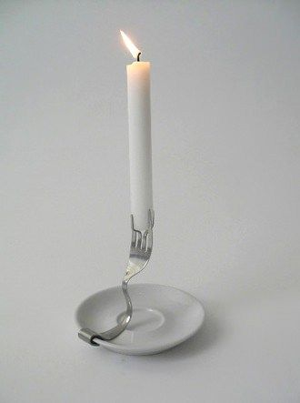 Old Fork As Candle Holder • Recyclart