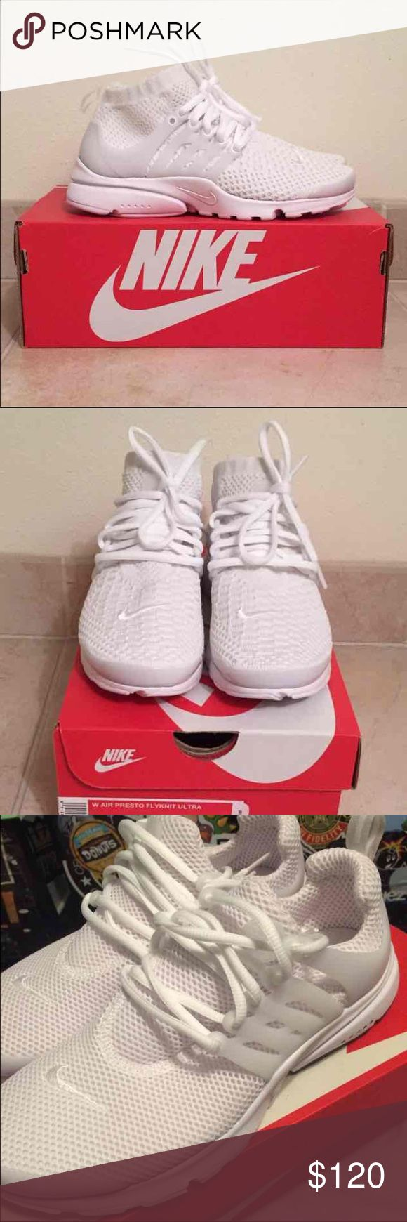 Nike air presto size 6.5 Brand new in box • women's size 6.5 • white Nike air presto shoes Nike Shoes Athletic Shoes