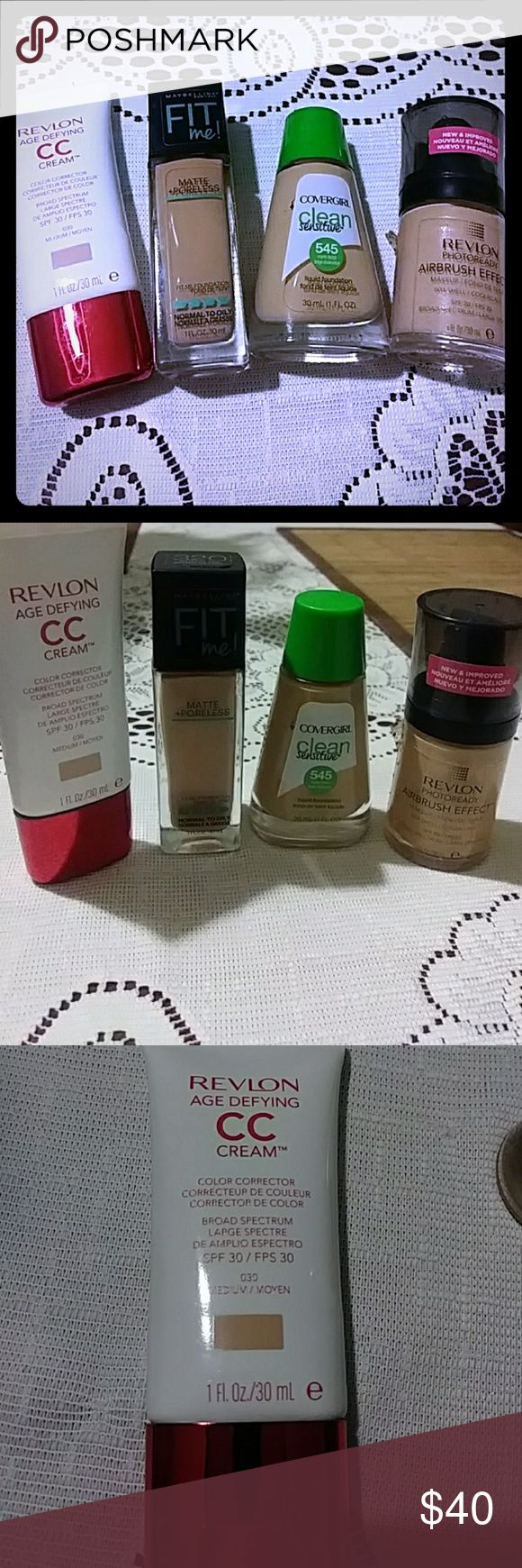 4 Sets of Foundation Bundle Revlon Age Defying CC Cream