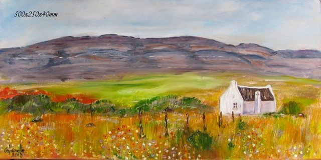56	Namaqualand Cederberge 	Oil Painting 	Stretched Canvas 250x500x40mm