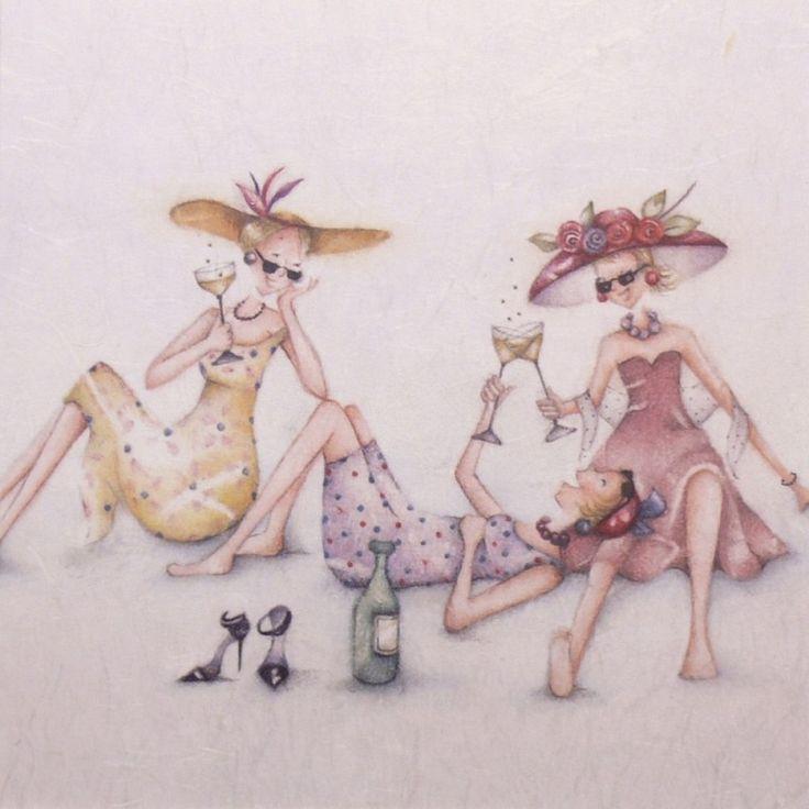 Berni Parker | Carte postale Berni Parker's ladies who love life