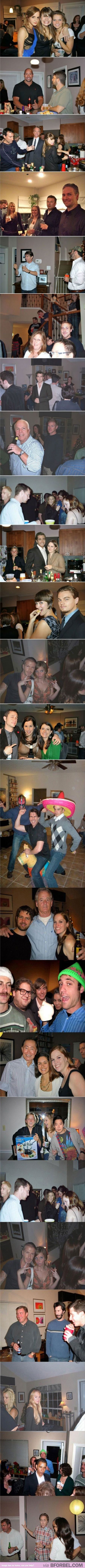 Photoshopping celebrities into your party pictures. Partying with Emma Watson, everyone!