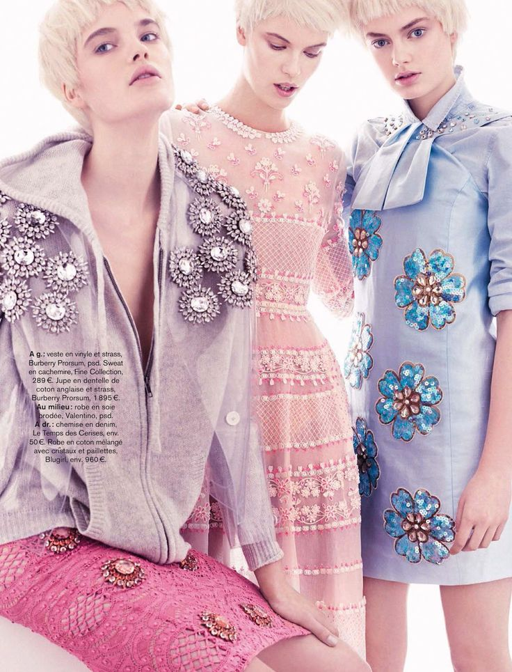 victoria tuaz, isabel scholten and hanna verhees by alvaro beamud  for glamour france