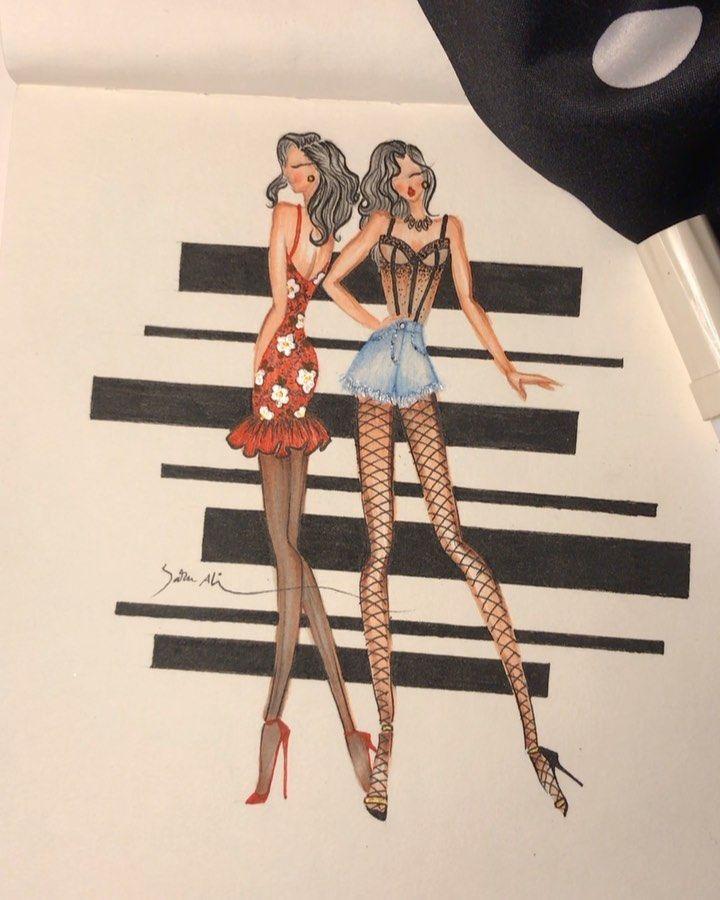Sara Ali On Instagram فاشن ازياء رسامين دورات جدة تصاميم جده فساتين Draw Drawing Sketch Emboridery Da Fashion Beauty Dresses Fashion