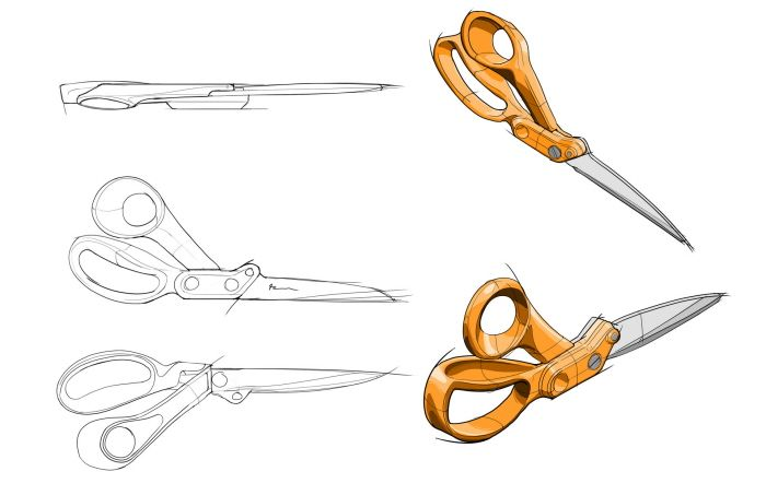 Fiskars by Colin Roberts at Coroflot.com #id #industrial #design #product #sketch