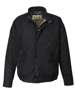 Barbour Jacke New Waxed Barrington (blau) - SALE % - Barbour - Herrenmode Online Shop - Frankonia.de