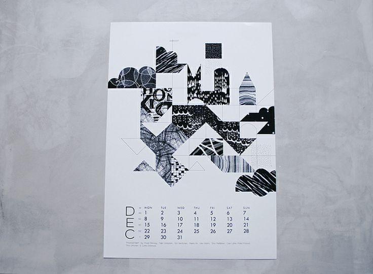 Finnish calendar. Scandinavian design.