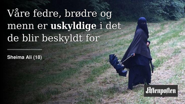 Hør meg når jeg skriker: Min hijab, min frihet   Sheima Ali (18) - Aftenposten