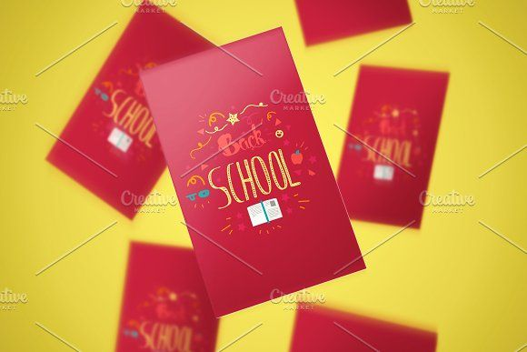 Back To School Lettering Stickers by barsrsind on @creativemarket