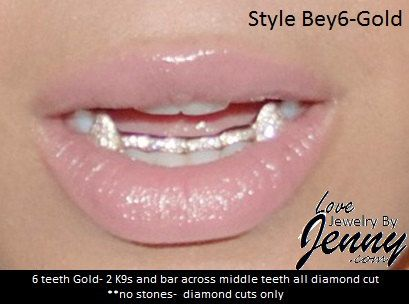 Real Gold Teeth Grills Custom fit 6pc.*FREE MEASURING KIT* Style Bey6-Gold by NameJewelrybyJenny on Etsy