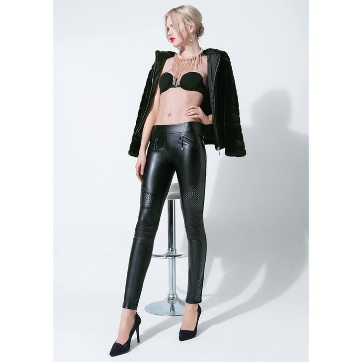 Trasparenze Fez leatherette leggings